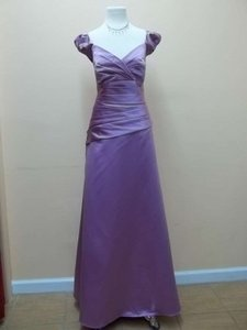 Alfred Angelo Royal Bloom Satin 506 Formal Bridesmaid/Mob Dress Size 14 (L)