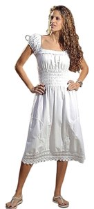 Lirome short dress White Summer Embroidered on Tradesy