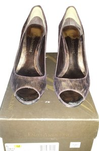 Enzo Angiolini bronze metallic Pumps