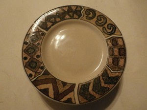 6 Majesticware By Sakura Saucers Plates 1995 Genuine Stoneware Design Sue Zipkin