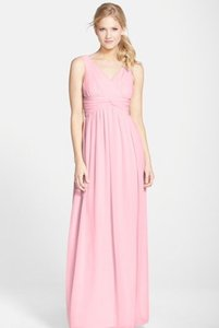 Donna Morgan Blush Chiffon Julia Formal Bridesmaid/Mob Dress Size 16 (XL, Plus 0x)