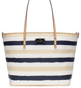 Kate Spade Tote in Navy Blue And Pebble White