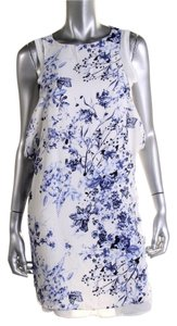 Zara short dress Blue &White Floral Summer Tank on Tradesy