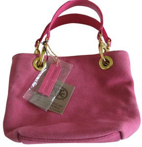 Great American Leatherworks Leather New Small Satchel in Pink
