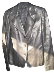Susan Lazar Italian Leather American Size 2 Classic Black Jacket