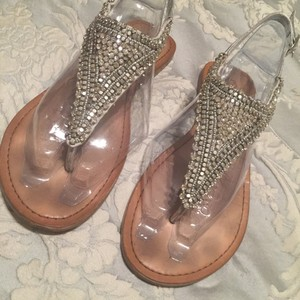 Naughty Monkey Silver Sandals