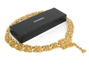 Chanel Belt Gold Filligree Link Belt Medium