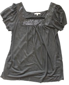 Matty M Beaded Shirt Top Black