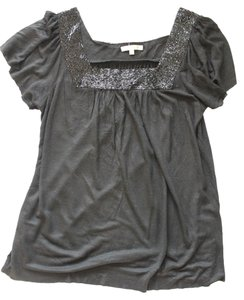 Matty M Beaded Shirt Tshirt Top Black