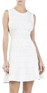 BCBGMAXAZRIA short dress White Bcbg Summer Jacquard Designer on Tradesy