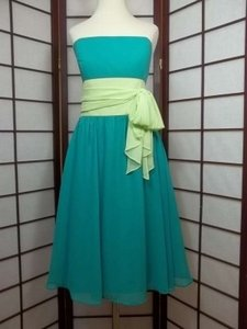 Alfred Angelo Jade/Pistachio Chiffon 7017s Formal Bridesmaid/Mob Dress Size 14 (L)