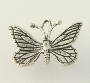 Butterfly Dangle Pendant - 925 Sterling Silver Insect Womens Fine Estate Moth