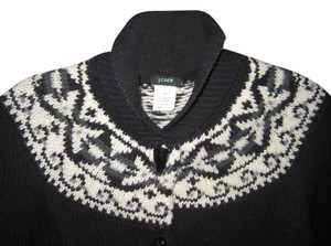 J.Crew 100% Wool Fair Isle Cardigan Xs Sweater