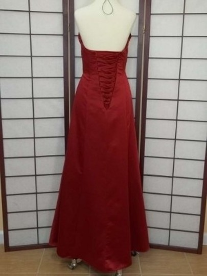 Alfred Angelo Claret Satin 7041 Formal Bridesmaid/Mob Dress Size 10 (M)