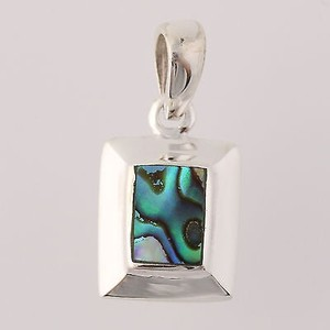 Abalone Pendant - Sterling Silver Polished 925