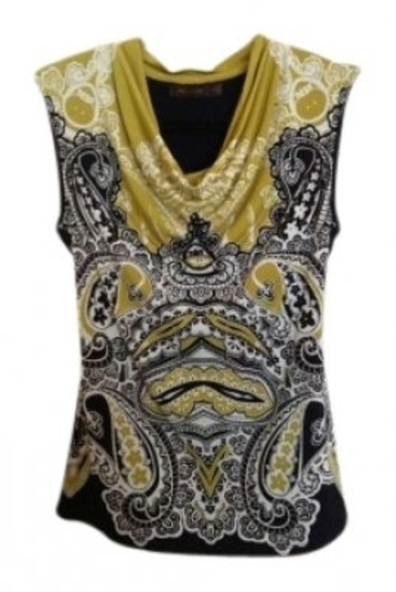 Preload https://item1.tradesy.com/images/the-limited-green-navy-sleeveless-bohemian-print-blouse-size-0-xs-147425-0-0.jpg?width=400&height=650