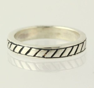 Scalloped Ring - Sterling Silver 925 4.75 Band Polished Womens Estate