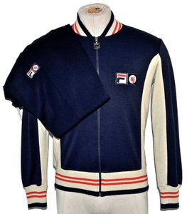 Fila Vintage Athletic Tracksuit Track Suit Blue Jacket