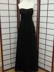 Alfred Angelo Black Chiffon 7093 Formal Bridesmaid/Mob Dress Size 4 (S)