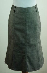 INC International Concepts Tweed Fit And Flare White Skirt Black
