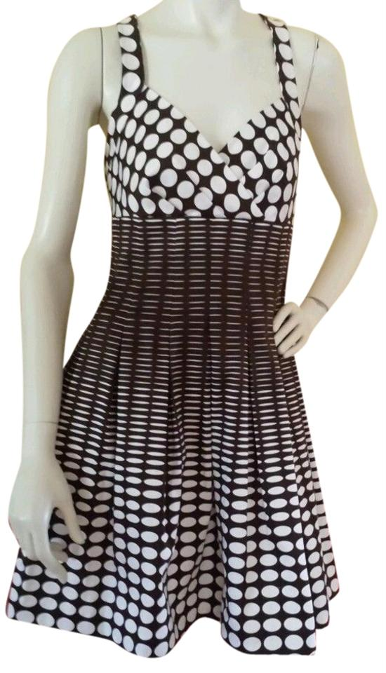 36d8a13014f Calvin Klein Dark Brown(Almost Black) White Polka Dot Sun Sundress S New Cocktail  Dress