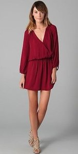 Joie Cabernet Matte Silk Mini Dress
