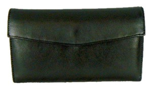 Wilsons Leather Vinatge Checkbook black Clutch
