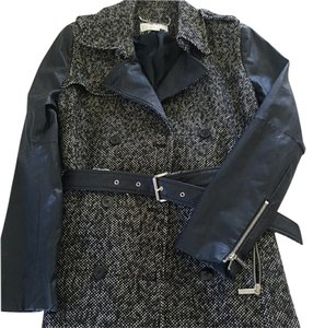Michael Kors Trench Trendy Slimming Leather Trench Coat