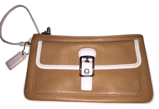 Coach Leather Wristlet in camel