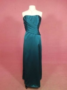 Alfred Angelo Tealness Satin 7131 Formal Bridesmaid/Mob Dress Size 12 (L)
