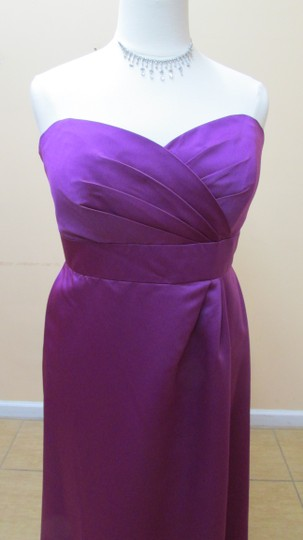 Alfred Angelo Violet Satin 7132 Formal Bridesmaid/Mob Dress Size 18 (XL, Plus 0x)