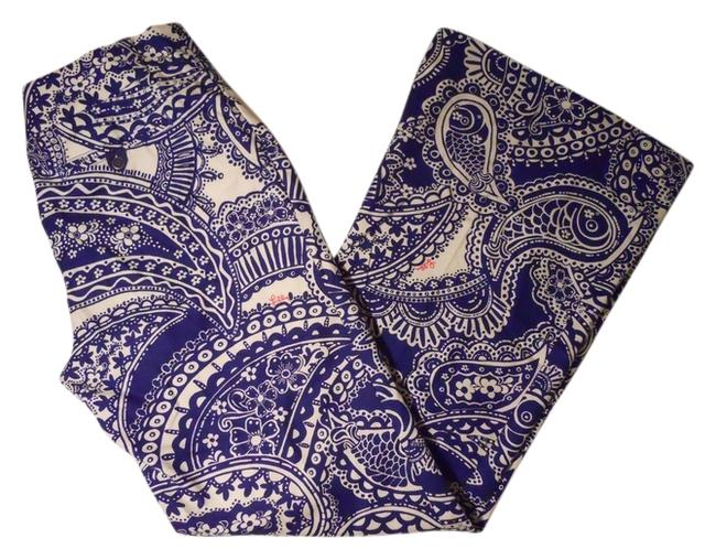 Item - Blue & White Floral Paisley Pants Size 10 (M, 31)