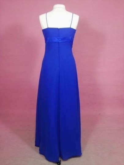 Alfred Angelo Cobalt Chiffon 7139 Formal Bridesmaid/Mob Dress Size 12 (L)