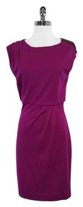 Diane von Furstenberg short dress Fuchsia Wool on Tradesy