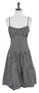Nanette Lepore short dress Navy White Polka Dot Spaghetti Strap on Tradesy