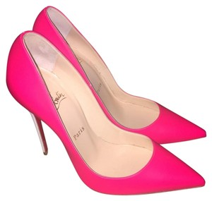 Christian Louboutin So Kate Red Bottoms Pink Leather Heels Pumps