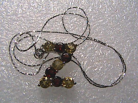 Unknown Italy Sterling Silver 1.0 cts Garnet & 1.25 cts Citrine