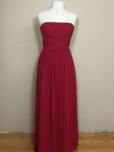 Alfred Angelo Claret Chiffon 7141 Formal Bridesmaid/Mob Dress Size 8 (M)