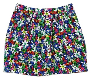 Kate Spade Multi Color Floral Mini Mini Skirt