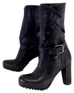 Vera Wang Black Stappy Mid Calf Boots