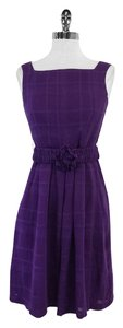 Nanette Lepore short dress Purple Sleeveless Plaid on Tradesy