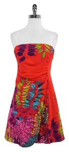 Nanette Lepore short dress Multi Color Print Cotton Silk on Tradesy