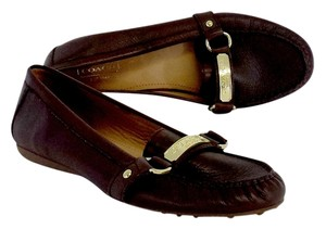 Coach Burgundy Leather Loafers Flats