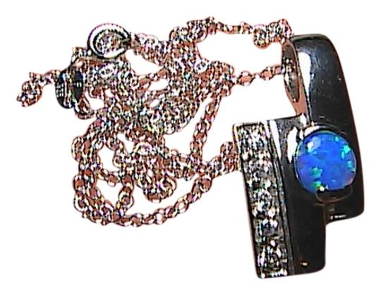 Preload https://img-static.tradesy.com/item/1474696/sterling-silver-opal-and-cz-75-cts-necklace-0-0-540-540.jpg