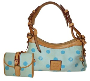 Dooney & Bourke Set Wallet Polka Dot Pair Matching Shoulder Bag
