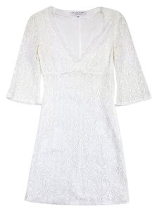Trina Turk short dress White Crochet 3/4 Sleeve on Tradesy