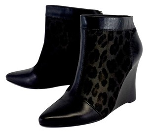 Nanette Lepore Leopard Print Pony Hair Ankle Boots