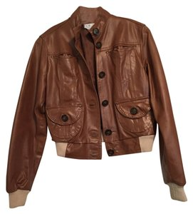 List Leather Bomber Italian Brown Leather Jacket