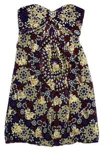 Nicole Miller short dress Metallic Print Silk Stapless on Tradesy