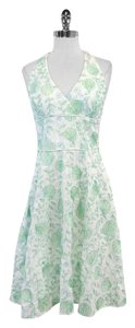 Lilly Pulitzer White Leaf Stitch Halter Dress